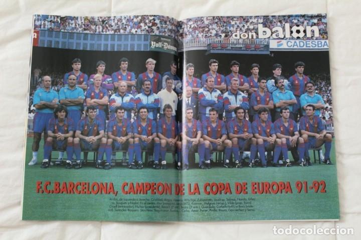 Coleccionismo deportivo: REVISTA DON BALÓN. Nº 865 CAMPEÓN BARCELONA WEMBLEY. PRIMERA COPA DE EUROPA. CHAMPIONS LEAGUE (1992) - Foto 2 - 174294394
