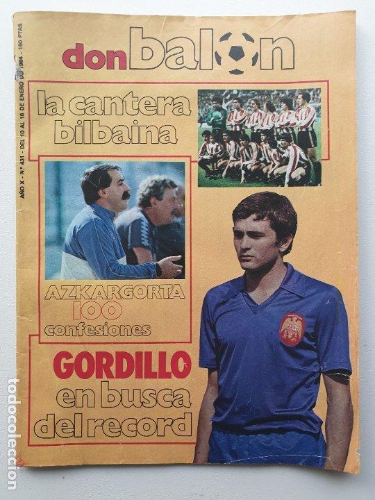 DON BALON Nº 431 - ENERO - 1984 (Coleccionismo Deportivo - Revistas y Periódicos - Don Balón)