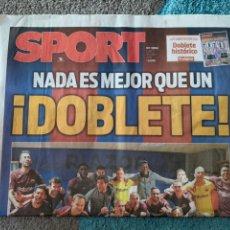 Coleccionismo deportivo: SPORT 30 ABRIL 2018 DOBLETE 2017 2018 FC BARCELONA CAMPEÓN LIGA. Lote 191834938