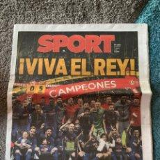 Coleccionismo deportivo: SPORT 22 ABRIL 2018 SEVILLA 0 FC BARCELONA 5 ADIOS INIESTA FINAL COPA DEL REY CAMPEÓN. Lote 191834926