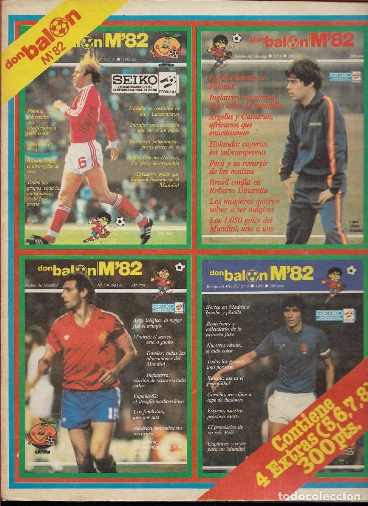 REVISTA DE FUTBOL DON BALON M82 - MUNDIAL 82 - CONTIENE 4 EXTRAS (5, 6, 7 Y 8) - ENCUADERNADOS (Coleccionismo Deportivo - Revistas y Periódicos - Don Balón)