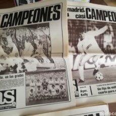 Coleccionismo deportivo: DIARIO AS. REAL MADRID- VIDEOTON 1985. IDA Y VUELTA. Lote 174943870