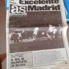 Coleccionismo deportivo: DIARIO AS. TOTENHAM- REAL MADRID. MARZO 1985. Lote 174944855