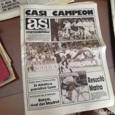 Coleccionismo deportivo: DIARIO AS. REAL MADRID 5 COLONIA 1. MAYO 1986. Lote 174945229