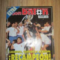 Coleccionismo deportivo: DB DON BALON EXTRA RECOPA 1995 REAL ZARAGOZA ARSENAL POSTER INCLUIDO. Lote 174954357