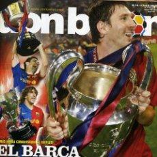 Coleccionismo deportivo: DON BALON - FINAL CHAMPIONS 2009 - FC BARCELONA & MANCHESTER UNITED. Lote 175128734