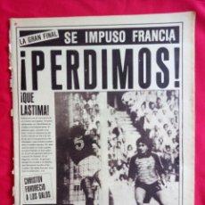 Coleccionismo deportivo: FINAL EUROCOPA 84 FRANCIA 2 ESPAÑA 0 DIARIO AS 28 JUNIO 1984. Lote 175391748