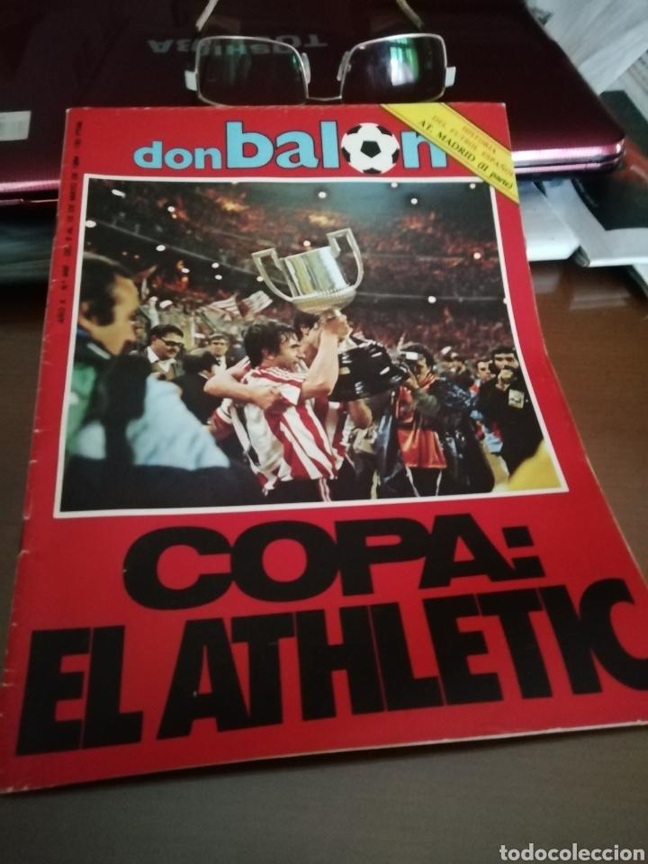 Coleccionismo deportivo: Don balon. atletic campeón copa rey . Campeón 1984 - Foto 5 - 175448123