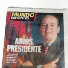 Coleccionismo deportivo: MUNDO DEPORTIVO: FALLECIMIENTO DEL PRESIDENTE J.L. NUÑEZ. Lote 175562559