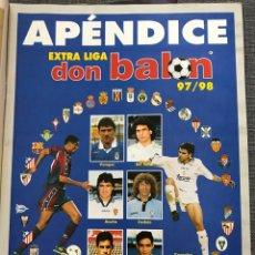 Coleccionismo deportivo: FÚTBOL DON BALÓN 1150 - APÉNDICE EXTRA LIGA 97/98 - ROBERTO CARLOS - ROMARIO - VIERI ATLÉTICO. Lote 175704900