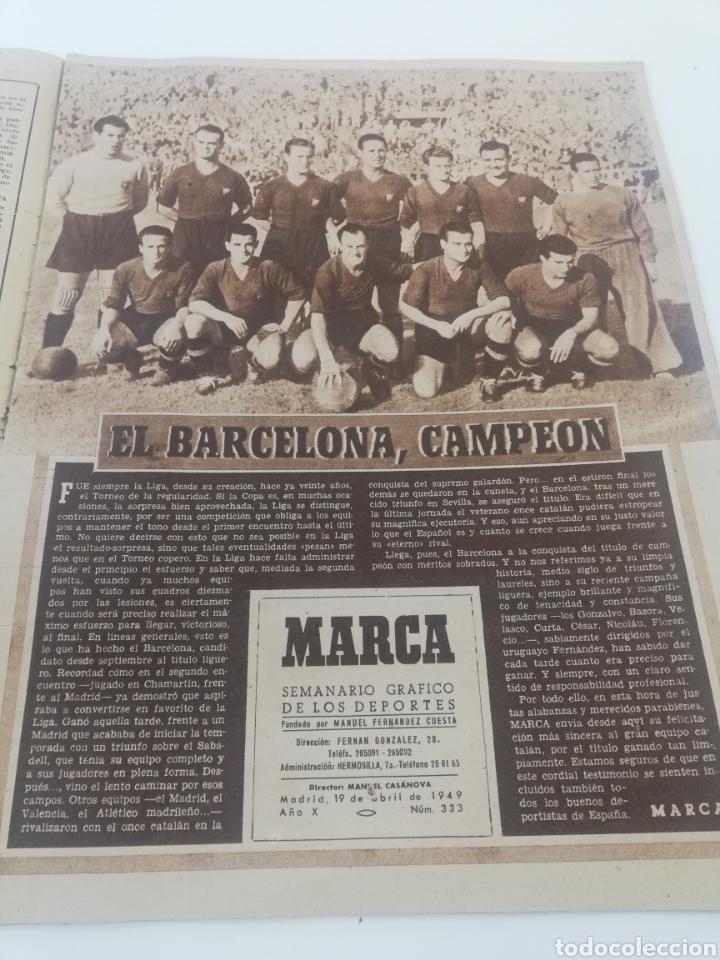 Coleccionismo deportivo: DIARIO MARCA 19 ABRIL 1949 NUMERO 333 FC BARCELONA CAMPEON LIGA 1948-49 BARÇA FUTBOL - Foto 2 - 175711930