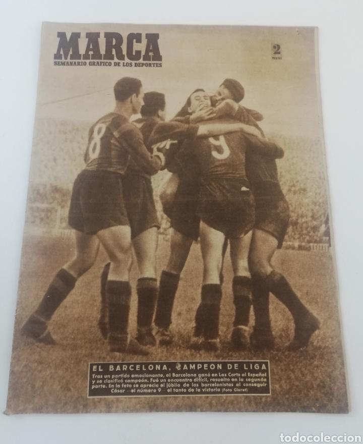 DIARIO MARCA 19 ABRIL 1949 NUMERO 333 FC BARCELONA CAMPEON LIGA 1948-49 BARÇA FUTBOL (Coleccionismo Deportivo - Revistas y Periódicos - Marca)