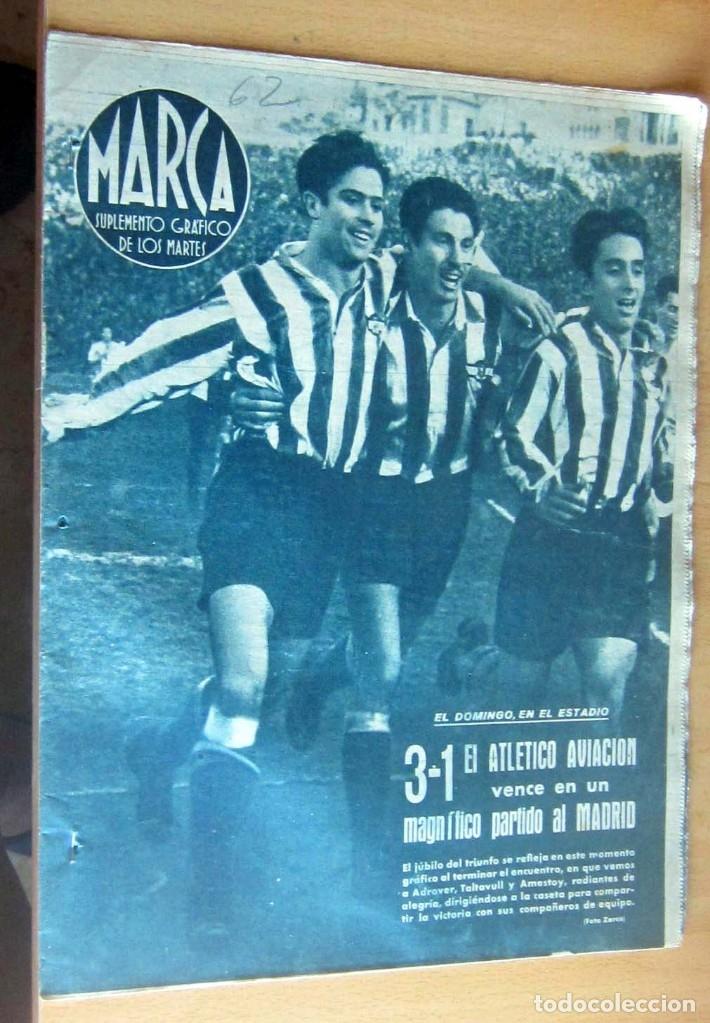 MARCA SUPLEMENTO GRAFICO DE LOS DEPORTES N 62 , 1 FEBRERO 1944, EN MUY BUEN ESTADO (Coleccionismo Deportivo - Revistas y Periódicos - Marca)