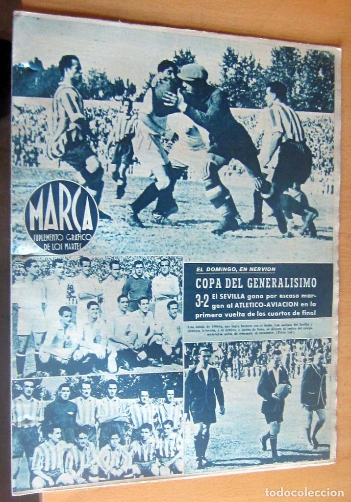 MARCA SUPLEMENTO GRAFICO DE LOS DEPORTES N 79 , 30 MAYO 1944, EN MUY BUEN ESTADO (Coleccionismo Deportivo - Revistas y Periódicos - Marca)