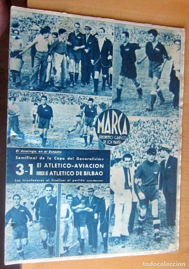 MARCA SUPLEMENTO GRAFICO DE LOS DEPORTES N 81 , 13 JUNIO 1944, EN MUY BUEN ESTADO (Coleccionismo Deportivo - Revistas y Periódicos - Marca)