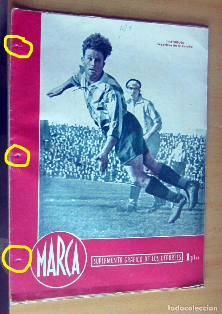 MARCA SUPLEMENTO GRAFICO DE LOS DEPORTES N 124, 10 ABRIL 1945 EN MUY BUEN ESTADO (Coleccionismo Deportivo - Revistas y Periódicos - Marca)
