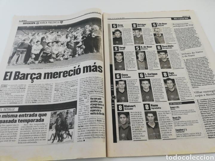 Coleccionismo deportivo: DIARIO SPORT AGOSTO 1999 FINAL SUPERCOPA DE ESPAÑA FC BARCELONA VALENCIA CF CAMPEON FUTBOL BARÇA. - Foto 2 - 175794635