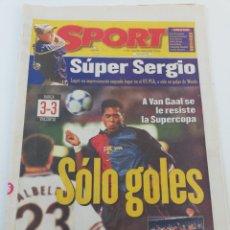 Coleccionismo deportivo: DIARIO SPORT AGOSTO 1999 FINAL SUPERCOPA DE ESPAÑA FC BARCELONA VALENCIA CF CAMPEON FUTBOL BARÇA.. Lote 175794635