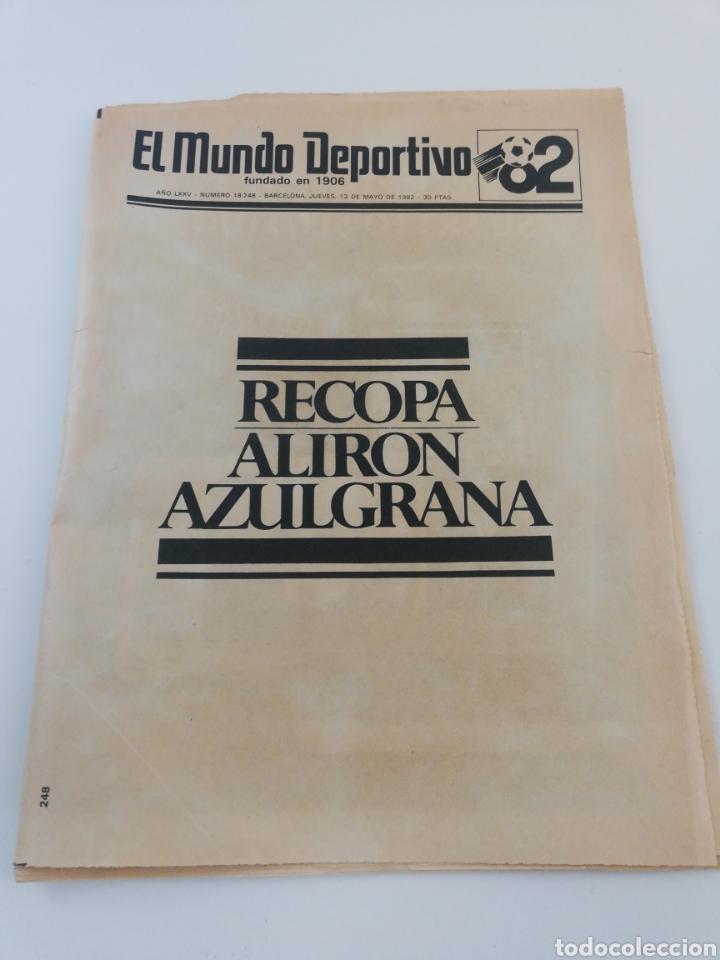 DIARIO MUNDO DEPORTIVO FINAL RECOPA EUROPA FC BARCELONA STANDARD LIEJA BARÇA CAMPEON 13 MAYO 1982 82 (Coleccionismo Deportivo - Revistas y Periódicos - Mundo Deportivo)
