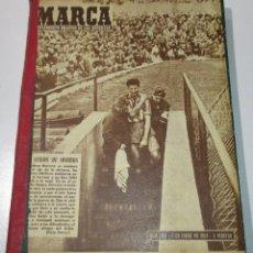 Coleccionismo deportivo: TOMO PERIÓDICO DEPORTIVO MARCA AÑO 1959, CON 15 Nº, ENTRE EL 842 Y 858, FÚTBOL, CICLISMO, BOXEO... Lote 176196464
