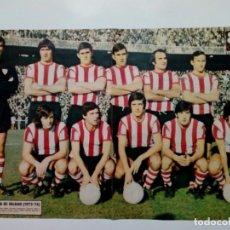 Coleccionismo deportivo: POSTER - AS COLOR 139 - ATHLETIC CLUB DE BILBAO (1973-74) - NOTICIA: JAVIER CLEMENTE HA VUELTO -. Lote 176576782