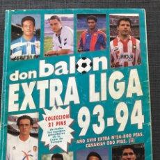 Coleccionismo deportivo: FÚTBOL DON BALÓN - EXTRA LIGA NÚMERO 24 TEMPORADA 93-94 - AS MARCA SPORT MUNDO DEPORTIVO CROMO ALBUM. Lote 176577383