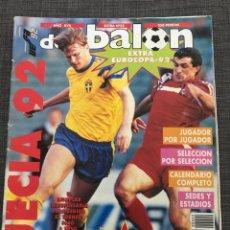 Coleccionismo deportivo: FÚTBOL DON BALÓN EXTRA 22 EUROCOPA SUECIA 92 - AS MARCA SPORT MUNDO DEPORTIVO CROMO ÁLBUM. Lote 176925273