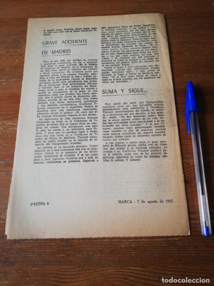 Coleccionismo deportivo: 40 días, 40 Ases, 40 biografias. Guillermo Timoner. El pentacampeon del mundo. - Foto 2 - 177279057