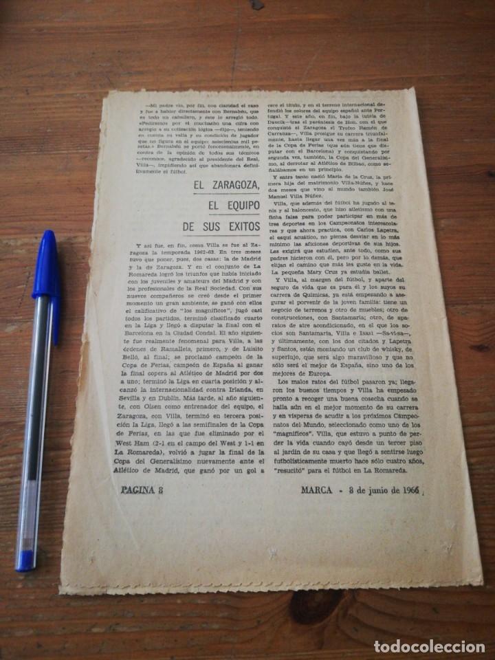 Coleccionismo deportivo: 40 días, 40 Ases, 40 biografias. Villa. El resucitado. - Foto 2 - 177286212