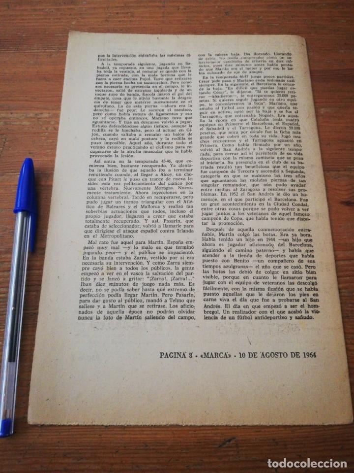 Coleccionismo deportivo: 40 días, 40 Ases, 40 biografias. Mariano Martín. El hombre-gol. - Foto 2 - 177286514