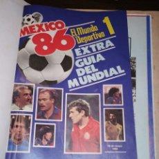 Coleccionismo deportivo: TOMO ENCUADERNADO DE MUNDO DEPORTIVO DEL MUNDIAL DE FUTBOL MEXICO 1986. Lote 177415282