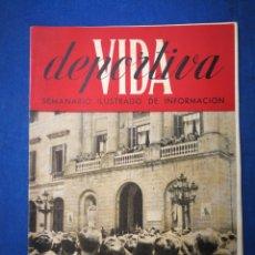 Coleccionismo deportivo: REVISTA VIDA DEPORTIVA- BARÇA CAMPEÓN LIGA 1944-45 (28 MAYO 1945)+ POSTER PLANTILLA+AUCA.. Lote 177600560
