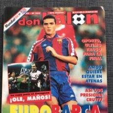 Coleccionismo deportivo: FÚTBOL DON BALÓN 965 - ZARAGOZA CAMPEÓN COPA POSTER - BARCELONA - CRUYFF - OPORTO - MILÁN. Lote 177696850
