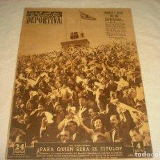 Coleccionismo deportivo: VIDA DEPORTIVA N. 395, ABRIL 1953. PARA QUIEN SERA EL TITULO?. KUBALA Y OLIVA EXPULSADOS.... Lote 177850672