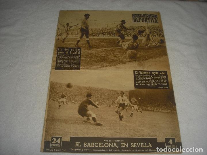 VIDA DEPORTIVA N.393, MARZO 1953. EL VALENCIA SIGUE LIDER. (Coleccionismo Deportivo - Revistas y Periódicos - Vida Deportiva)