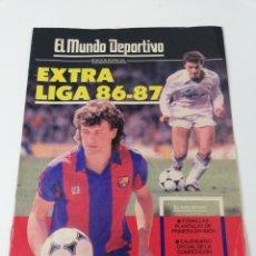 Colecionismo desportivo: EXTRA LIGA 86-87 MUNDO DEPORTIVO POSTER FC BARCELONA 1986-1987 GUIA FUTBOL.. Lote 177877545
