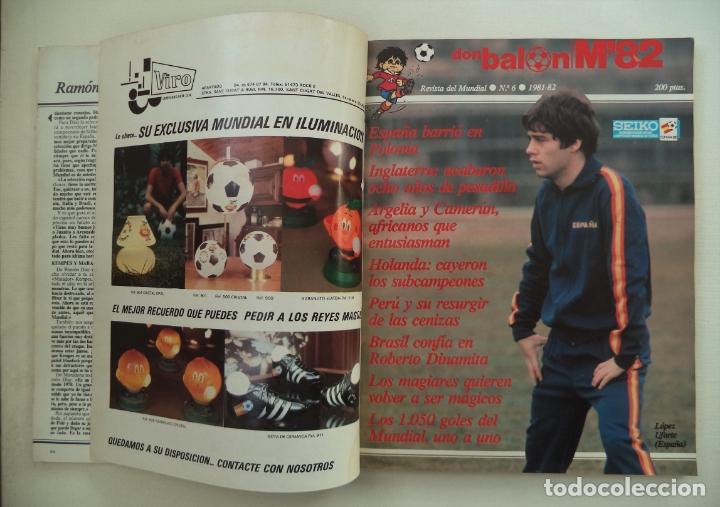 Coleccionismo deportivo: REVISTA DON BALON M82 CONTIENE 4 EXTRAS N 5 6 7 Y 8 MUNDIAL 82 - Foto 14 - 177939037