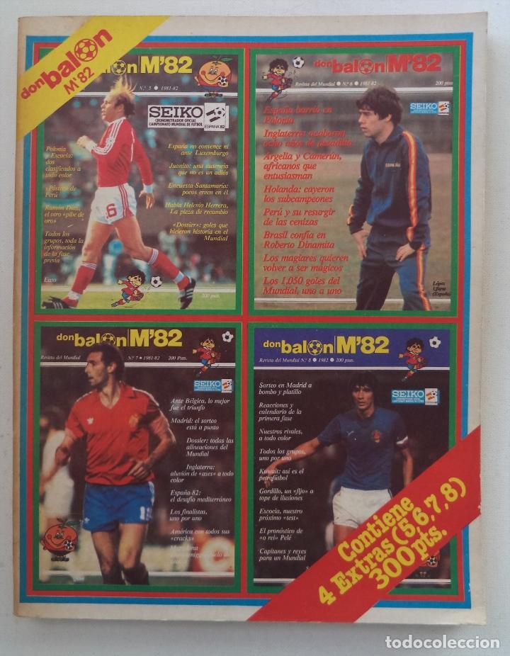 REVISTA DON BALON M82 CONTIENE 4 EXTRAS N 5 6 7 Y 8 MUNDIAL 82 (Coleccionismo Deportivo - Revistas y Periódicos - Don Balón)