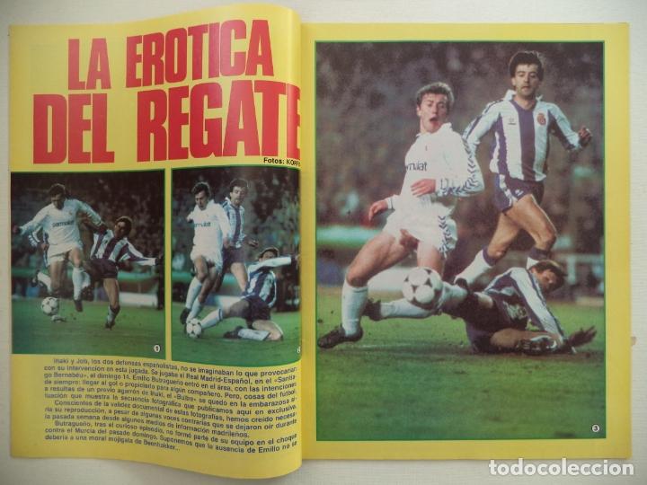 Coleccionismo deportivo: REVISTA DON BALON Nº 584 DEL 23 AL 29 DE DICIEMBRE DE 1986 BUTRAGUEÑO STRIP-TEASE - Foto 2 - 177944699