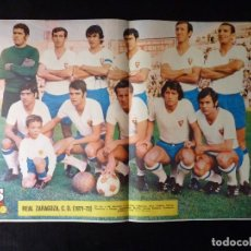 Coleccionismo deportivo: AS COLOR. Nº 30, 1971. POSTER REAL ZARAGOZA, C.D., URTAIN POR EL TÍTULO EUROPEO, CON VELAZQUEZ .... Lote 178042432