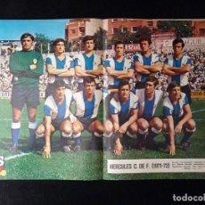 Coleccionismo deportivo: AS COLOR. Nº 34, 1972. POSTER HÉRCULES C.DE F. LA SELECCIÓN EN PELIGRO DE K.O. POR LESIONES. Lote 178042667