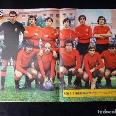 Coleccionismo deportivo: AS COLOR. Nº 35, 1972. POSTER REAL C.D. MALLORACA. KUBALA. IRURETA, TIRADOR DE PRIMERA.... Lote 178042739