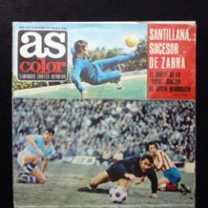 Coleccionismo deportivo: AS COLOR. Nº 36, 1972. SANTILLANA SUCESOR DE ZARRA. ALARCIA, EL HEROE DEL DOMINGO. FALTA POSTER. Lote 178042914