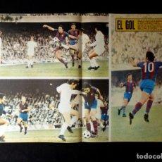 Coleccionismo deportivo: AS COLOR. Nº 46, 1972. POSTER EL GOL (BARCELONA-MADRID) CHOQUE CUMBRE. Lote 178043238