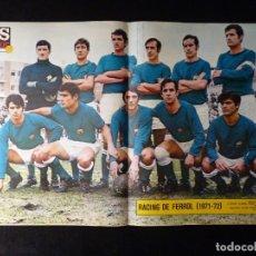 Coleccionismo deportivo: AS COLOR. Nº 47, 1972. POSTER RACING DE FERROL. PIRRI ASEGURO EL TÍTULO. Lote 178043314