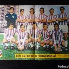 Coleccionismo deportivo: AS COLOR. Nº 48, 1972. POSTER REAL VALLADOLID DEPORTIVO. PARA ATLETICO Y RAYO, EL BALON NO FUE REDON. Lote 178043408
