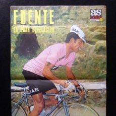 Coleccionismo deportivo: AS COLOR. Nº 58, 1972. POSTER DE FUENTE. OVEJERO, CACIQUE DEL AREA. DOS GRANDES CAMPEONES NIETO- OCA. Lote 178043507