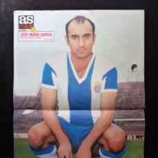 Coleccionismo deportivo: AS COLOR. Nº 74, 1972. POSTER JOSÉ MARIA GARCÍA. CORRER O PERDER, LO HA DICHO KUBALA. SANTANA.... Lote 178043595