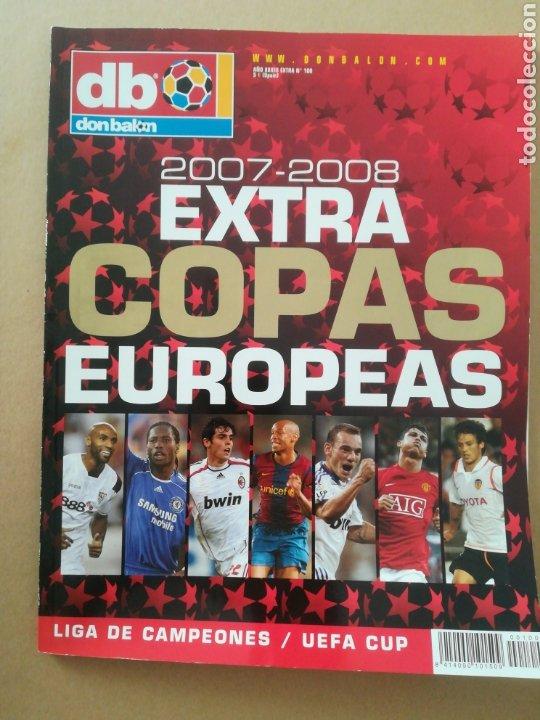 DON BALÓN EXTRA COPAS EUROPEAS 2007-2008 (Coleccionismo Deportivo - Revistas y Periódicos - Don Balón)