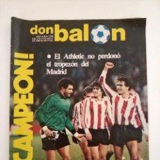 Coleccionismo deportivo: REVISTA DON BALON NUMERO 395 ATHLETIC BILBAO CAMPEON LIGA MAYO 1983. Lote 178262620